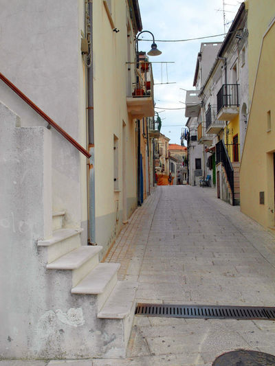 A glimpse of a street in the historical center of Termoli Steps Termoli  Architecture Building Exterior Built Structure City Foreshortening Glimpse House Italy Molise No People Outdoors Residential Building Street Termoli City The Way Forward