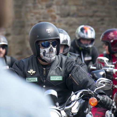 Motorbike Reapers Abertawe Swansea facemask