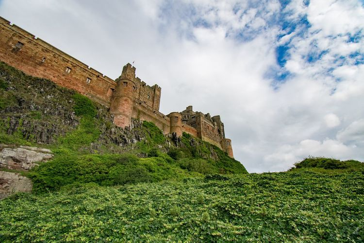 Bamburgh Castle EyeEm Gallery Landscape Eye4photography  EyeEm Best Shots Clouds And Sky Sky And Clouds Skyporn Landscape_photography Northumberland Sky_collection History The Past Architecture Building Exterior Sky Built Structure Cloud - Sky Low Angle View Castle Plant