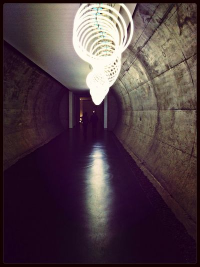 Tube Concrete Light And Shadow Light Painting Artistic