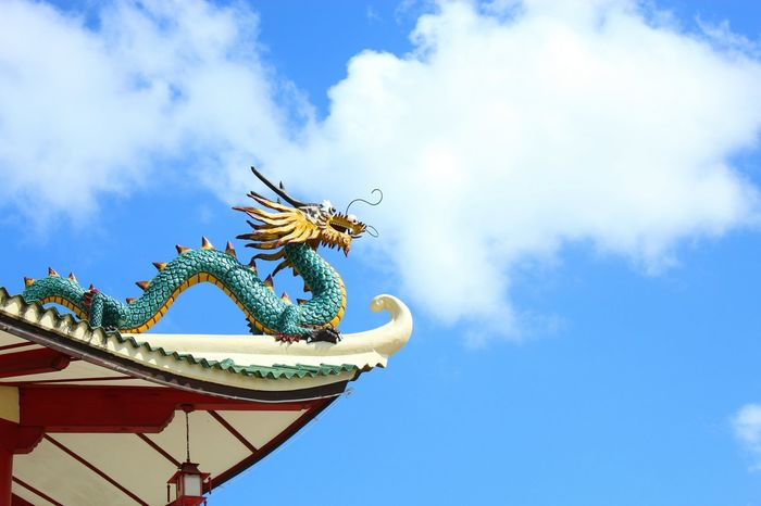 Taoist Temple Dragon Cultures Vacations No People Sky Day Outdoors EyeemPhilippines Getaways Cloud - Sky Chinese Culture EyeEm Best Shots - Nature Temple Architecture Temples TaoistTemple