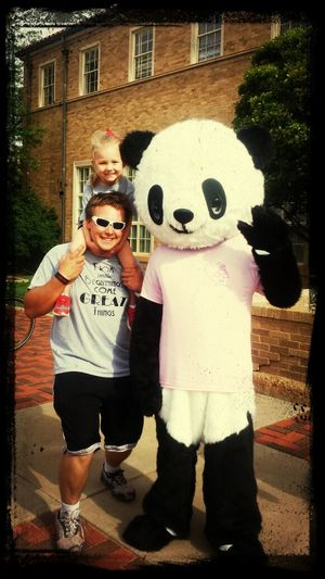 Me and Addi at the March of Dimes walk WITH A PANDA!!! March Of Dimes