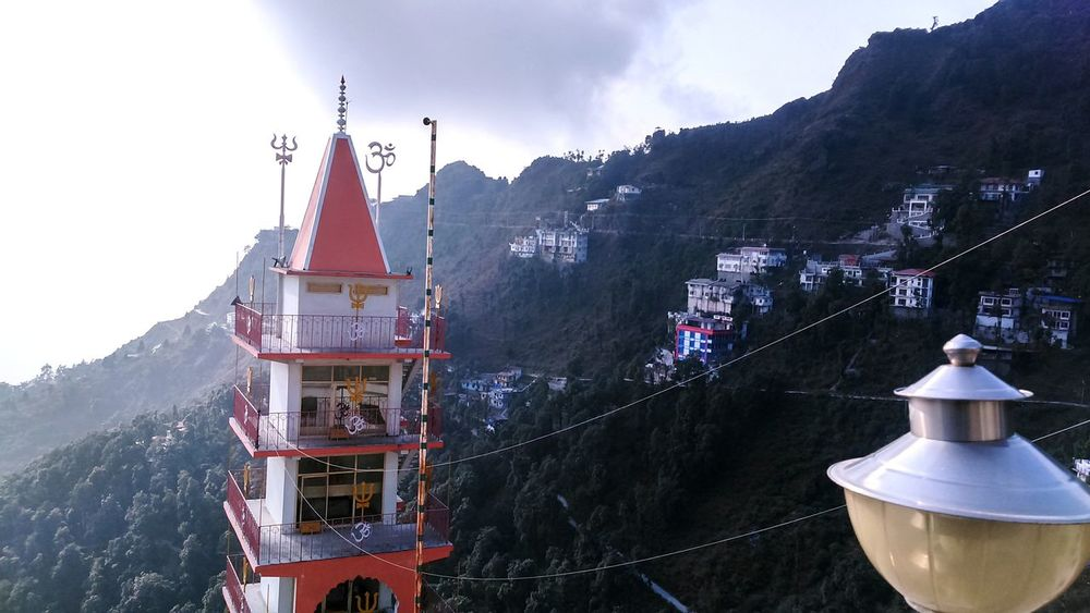EyeEm Selects Mountain Travel Destinations Tranquility LandscapeReligion Winter Outdoors Fog Nature Scenics Beauty In Nature EyeEmNewHere Mussorie Mussoriediaries Mussorie Mornings India Temple Shiva Temple OM Temple On Hill - India Templeonthemountain Indiantemples