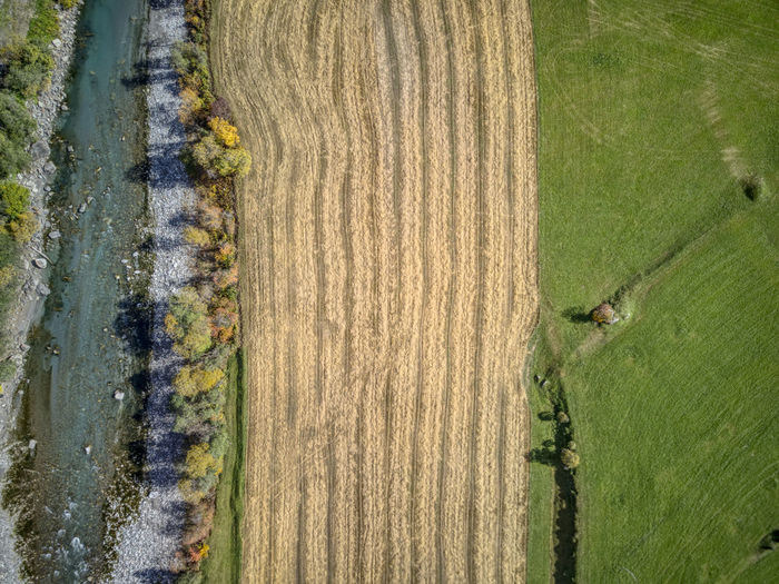 Drone  Aerial Photography Agriculture Beauty In Nature Birdseyeview Day Dronephotography Field Grass Growth Landscape Nature No People Outdoors Rural Scene Tree Water