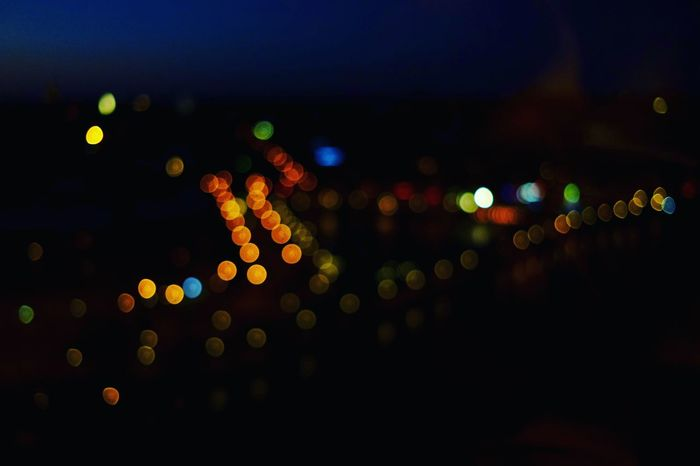 Blurred Skyline #blurry Skyline #Blurry Urban Lights Defocused Illuminated City Multi Colored Lighting Equipment Abstract Close-up Vehicle Light