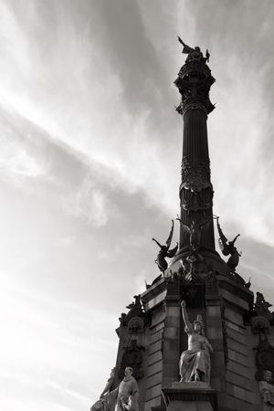 To the New World Columbus Historical Sights Being A Tourist Light And Shadow Statue Black & White Black And White Blackandwhite Sky Clouds And Sky Sky_collection My Best Photo 2015
