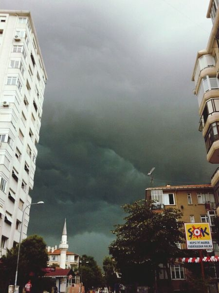 Storm Storm Clouds Rain Istanbul Turkey