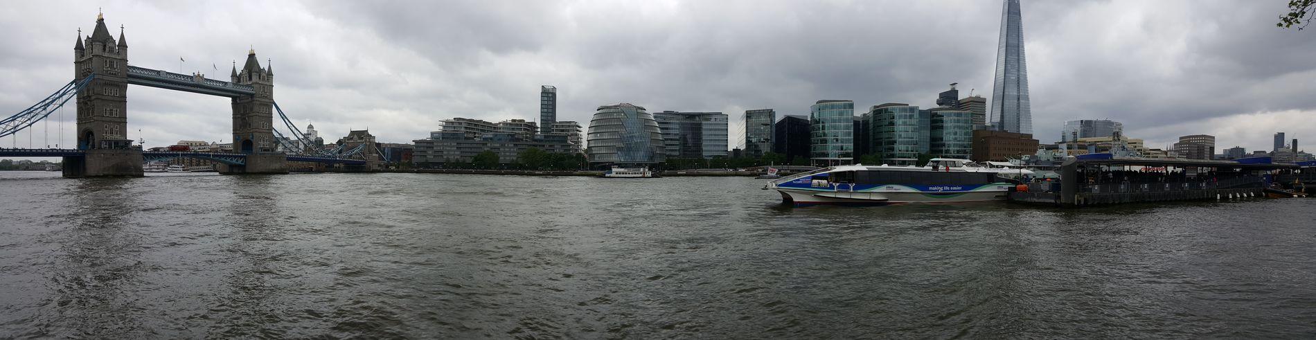 The Thames River Thames River Tower Bridge  The Shard London