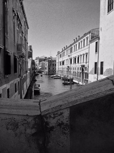 On The Bridge, #Venice. Architecture Blackandwhite Bridge Built Structure Canal City Life City Street Day Diminishing Perspective EyeEm Gallery Italy No People Travel Destinations Venice Water