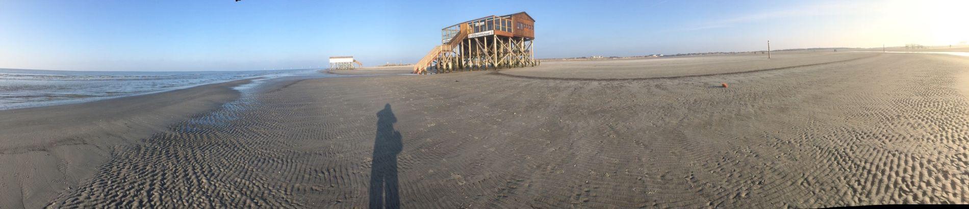 St. Peter Ording Beach Nordsee Northsea Strand Relaxing Having Fun Panorama Panoramic Shadow