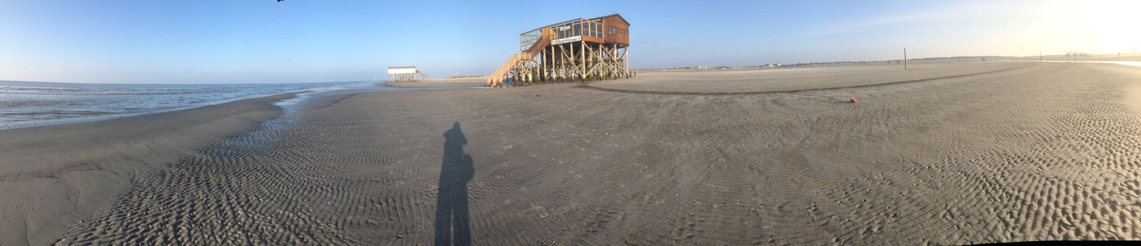 St. Peter Ording Beach Nordsee Northsea Strand Relaxing Having Fun Panorama Panoramic Shadow