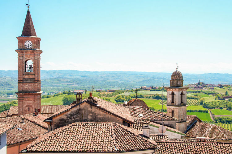 Architecture Built Structure Building Exterior Sky Nature Day No People Outdoors Govone (CN) Govone  Cuneo Langhe Monferrato Piedmont Italy Italy Italian Landscape Roof Tower Bell