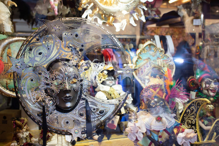 Close-up of mask for sale