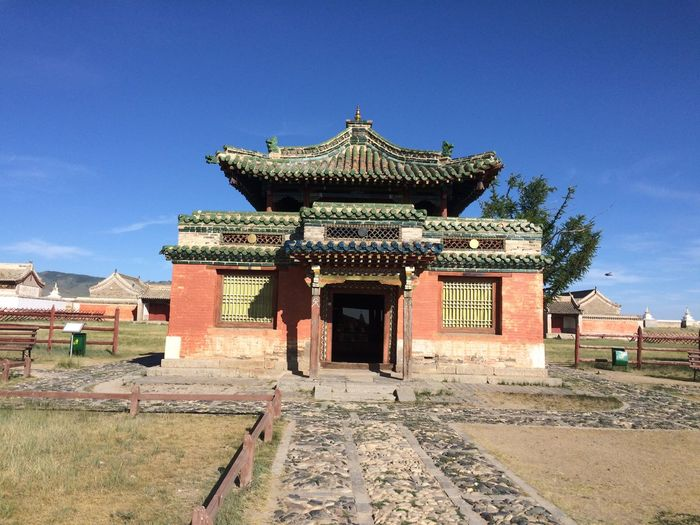 Mongolia Architecture Asian Temple Belief Blue Buddhism Buddhist Temple Building Building Exterior Built Structure Cloud - Sky Day Façade Gengis Khan History House Nature No People Old Outdoors Place Of Worship Religion Sky The Past Travel Destinations