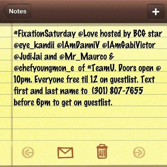 I got the move for the night. HMU