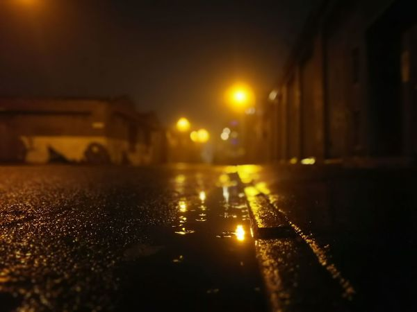 Night Illuminated Wet No People City Surface Level Outdoors Rainy Night Street Liverpool, England Night Time Street Lighting Street Lights Puddle Water The City Light