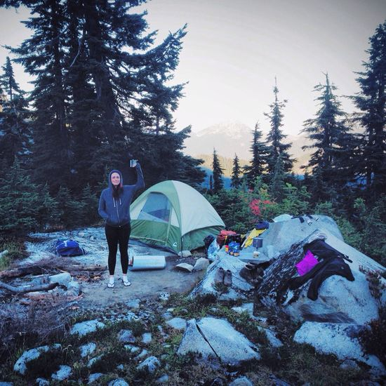 The most amazing campsite after an amazing day of hiking. Couldn't be happier. Belong Anywhere Camp On A Hike Eye Em Nature Lover