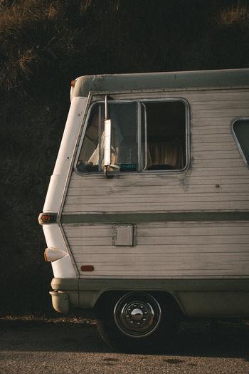 Camper van parked on road