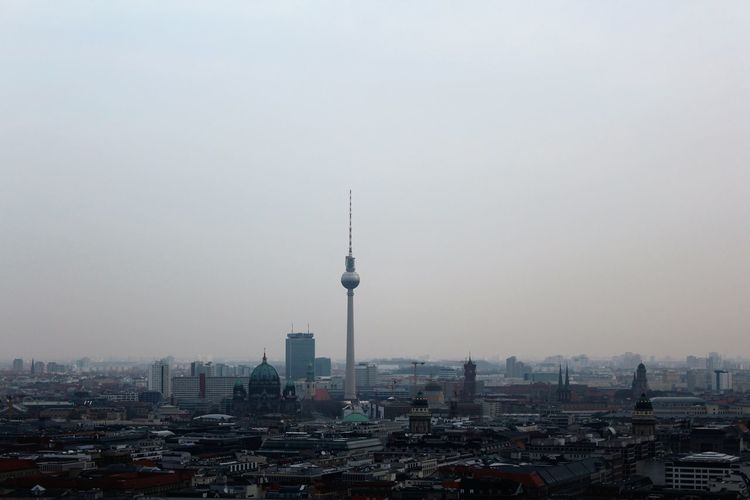 Panoramic berlin cityscape