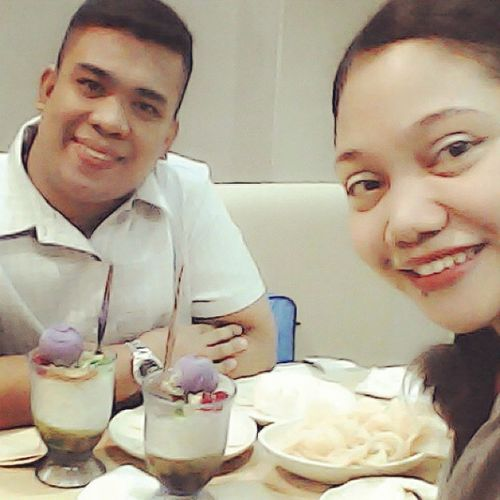 With my co-teacher :) Chicharap Halohalo HappyMeryenda !