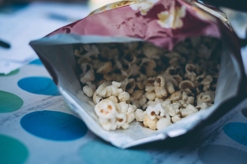 Low Angle View Popcorn Close-up Day Food Food And Drink Freshness Indoors  Looking Inside No People Ready-to-eat