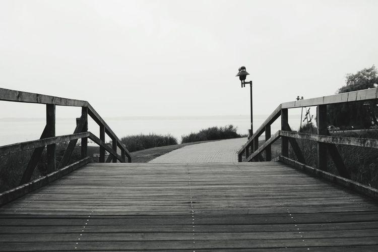 Over the brige Beach Footbridge Bridge Covered Bridge Wood Paneling The Way Forward