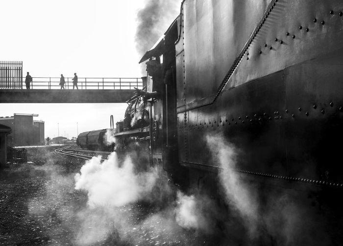 Steam train on