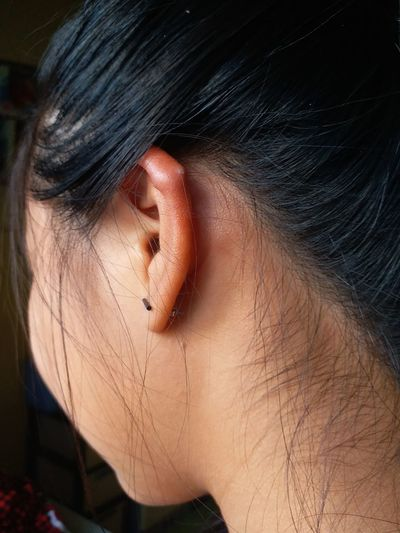 Inflammation of the ear Ear Inflammation Ear Piercing EyeEm Selects Only Women One Person One Woman Only Adult Close-up Human Body Part Adults Only People Beauty Day Beautiful Woman