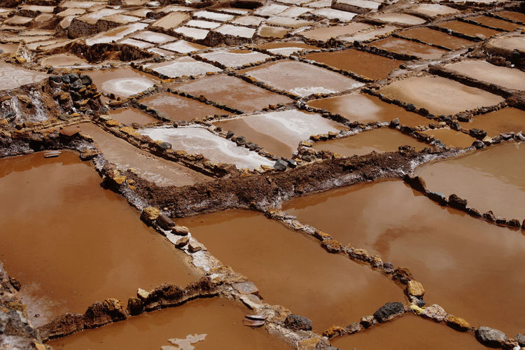 High Angle View No People Food Brown Pattern Full Frame Food And Drink Freshness Close-up Salt - Mineral Nature Day Salt Flat Mineral Indulgence Water Sweet Food Backgrounds Dessert Temptation Peru