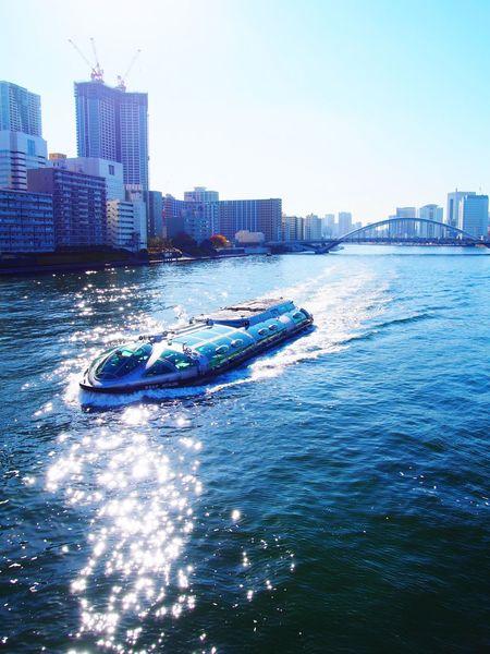 Sumidariver River Ship Kachidoki Bridge Eyeem Tokyo Meetup 11 Building Buildings Eyeemphotography Showcase: December Tokyo Tokyo,Japan