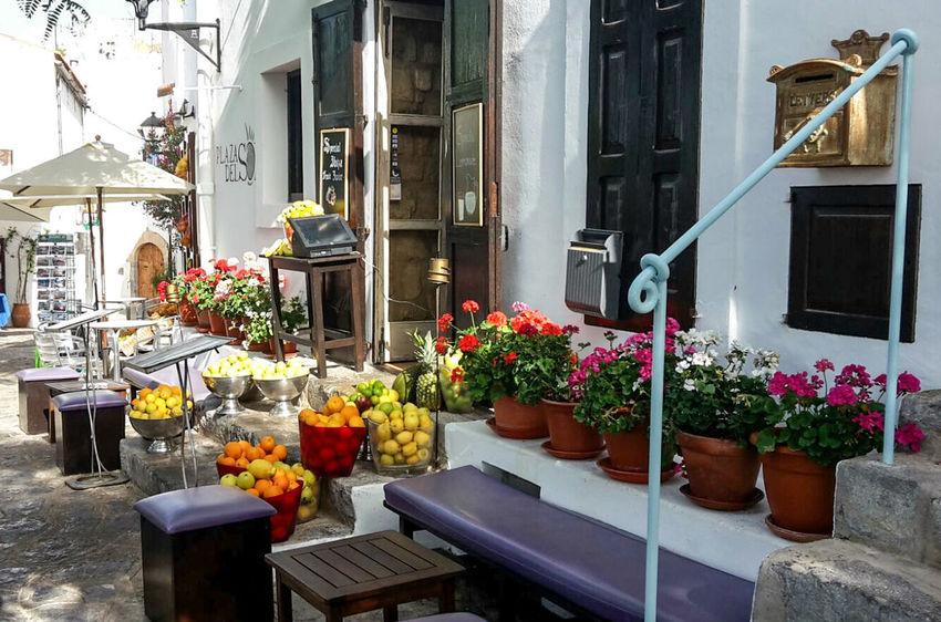 Ibizatown Ibiza Stadt Sunshine Isla De Ibiza Insel Ibiza Summerday Balearen Kleiner Laden Ladengeschäft Obst Colors Blumen