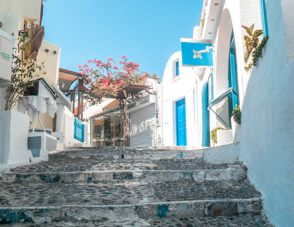 Emotions Greece GREECE ♥♥ Greece Photos Blue Mykonos Holiday Holidays Summer Summertime Summer Exploratorium Summer Views Colors Color Followme Europe Europe Trip Sky Love Multi Colored City Façade Sky Architecture Building Exterior Built Structure Street Art Palace Poster