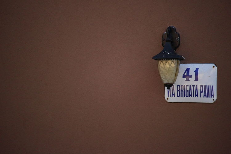 41 A Place Brown Wall Number 41 Street Light Outside Street Photography Vintage Street Lamp