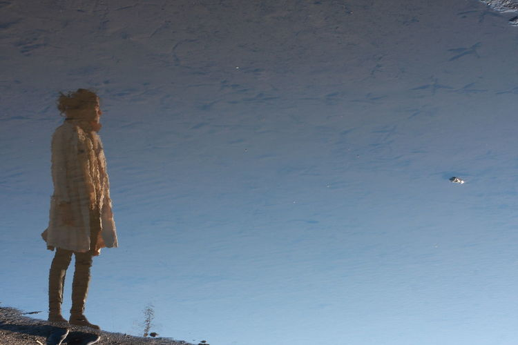 Her reflection in the lake