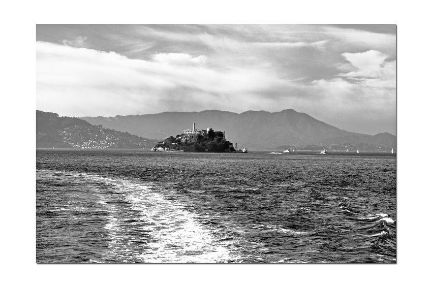 Ferrys Wake 4 San Francisco Bay Alcatraz Bnw_friday_eyeemchallenge Water Waterway Oakland To San Francisco Ferry Ferry Views Alcatraz Island A.k.a. The Rock Hills Of San Francisco Wake Trailing Ferry Marin Headlands Sky And Clouds Sailboats Black & White Black And White Photography Black And White Black And White Collection  Black And White Silhouette! Monochrome
