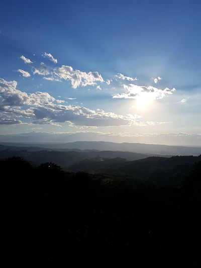 Nature Silhouette Landscape Beauty In Nature No People Mountain Scenics Sky Outdoors Vacations Beauty City Day Hills Freshness Piedmont Italy Travel Destination Langhe Sun Cloud - Sky Morning
