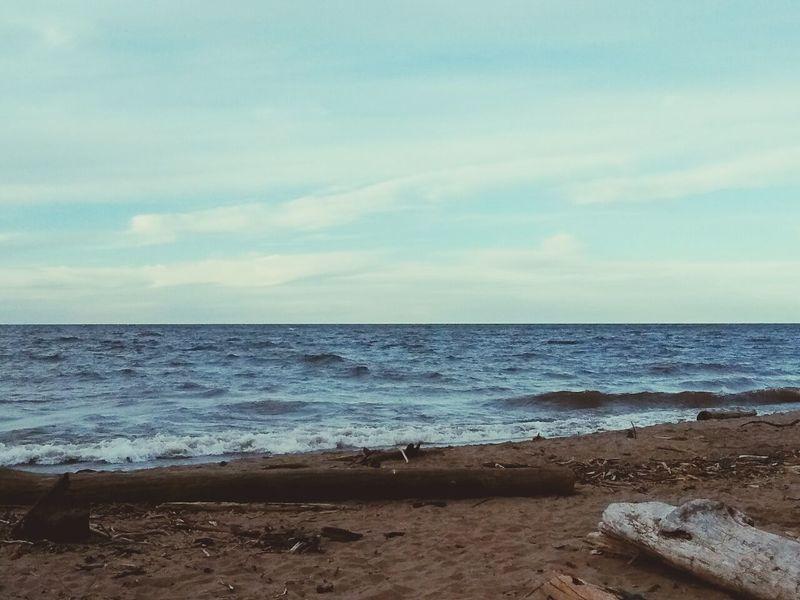 Lake Superior Lake Water Michigan Beach Sand Sky Nature Beautiful Trees Fallen Rocks