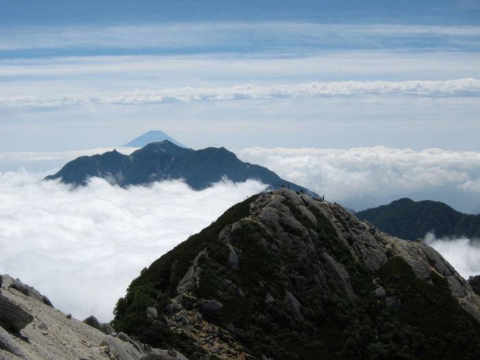 Mt. fuji view from the top of mt. kai-komagatake