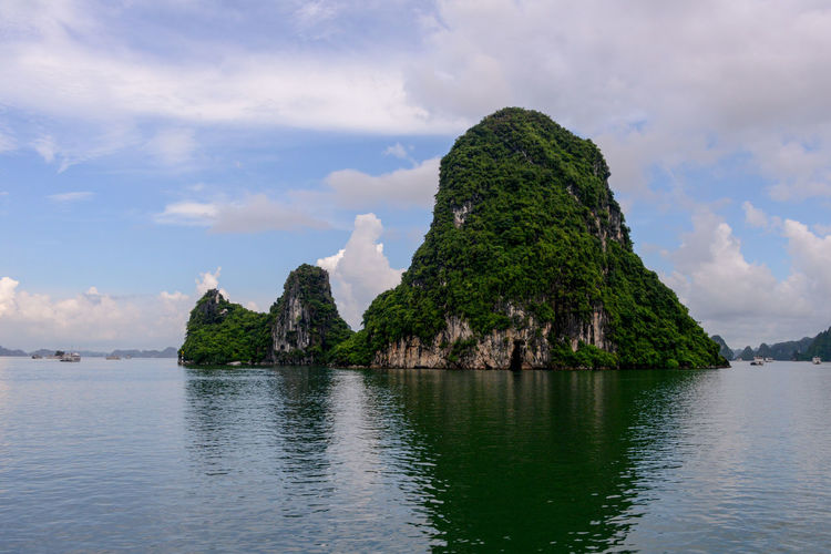 Halong Bay Vietnam Halong Bay Vietnam Halong Bay  Halongbay Vietnam Beauty In Nature Cloud - Sky Day Mountain Nature No People Outdoors Rock - Object Scenics Sea Sky Tranquil Scene Tranquility Vietnam Travel Vietnam Trip Vietnamphotography Vietnamtravel Water