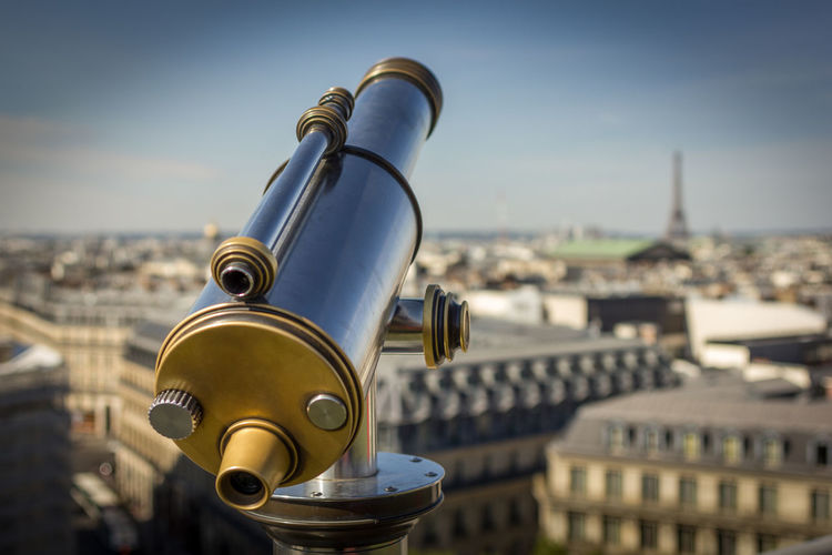 Close-up Equipment Focus On Foreground Metal Old-fashioned Shiny Still Life Technology The Tourist Cityscape Built Structure Building Exterior Architecture Atmosphere City Life Day Paris France