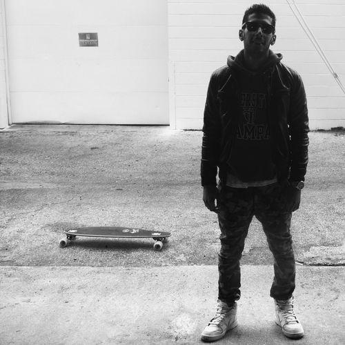 Keep pushing Skateboarding Portrait Blackandwhite Tampa