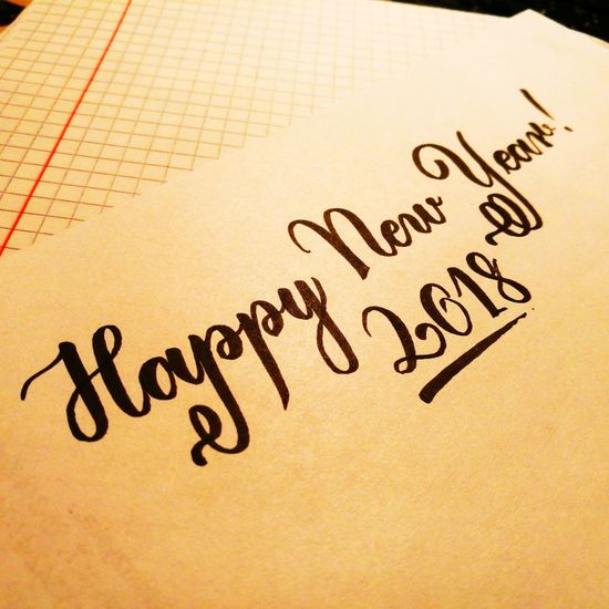 Something different for today... Happy new year 2018 everyone!🎇🎊🎉🎆🖌️🖍️😎 Handwriting  No People Calligraphy Handlettering Letters Lettering CalligraphyPractice Happy New Year 2018 Art Artist Drawing Brush Brushlettering Brushes Paper Calligrapher Day Close-up