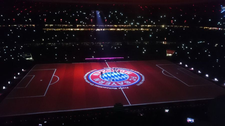 Marry Christmas FCBayernMunich Night Laser Show Forever Number One FCB <3