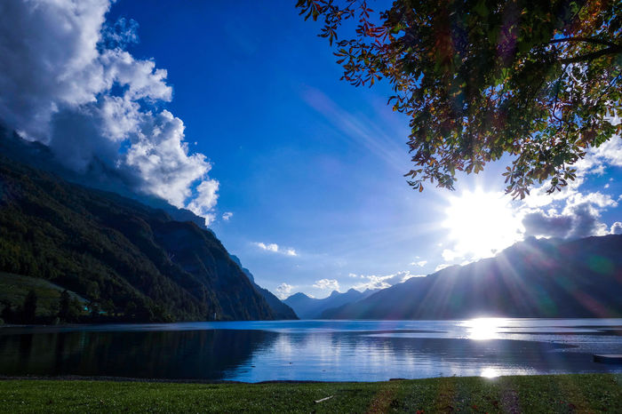 Sunset Landscape_photography Landschaft Etifumi Photo Photography Nature Clouds Cloud - Sky Sony Churfirsten Walensee Walensee Switzerland Lake Reflections In The Water Walenstadt Clou Water Tree Mountain Lake Blue Reflection Sky Landscape Mountain Range Lakeshore Tranquil Scene Reflection Lake
