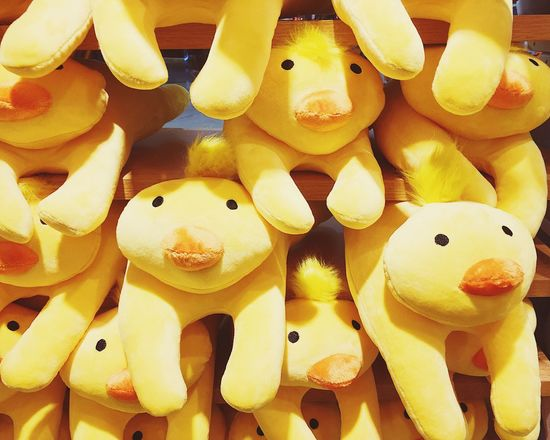 Paint The Town Yellow Toy Fluffy Duck Group Of Ducks