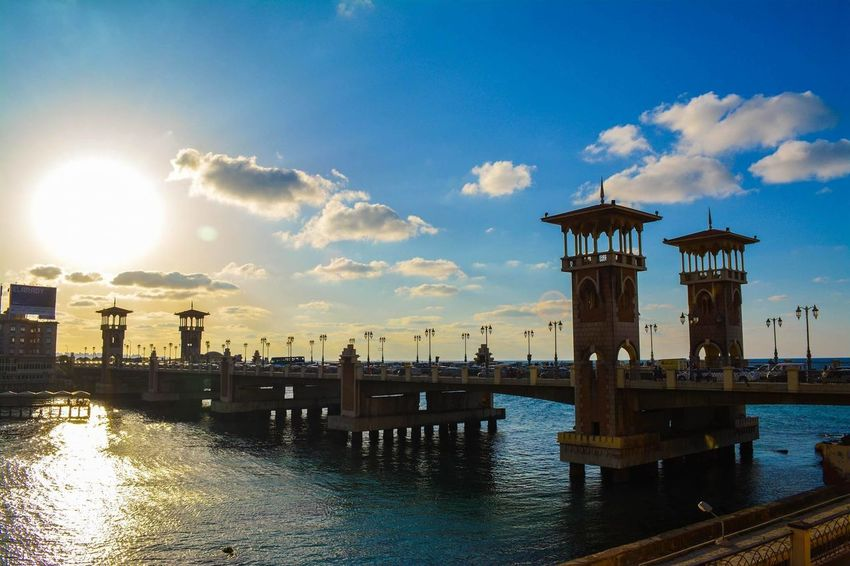 #alexandria #Canon #clouds  #daylight #sea #stanleybridge #sunset #sun #clouds #skylovers #skyporn #sky #beautiful #sunset #clouds And Sky #beach #sun _collection #sunst And Clouds Building Exterior Nature First Eyeem Photo