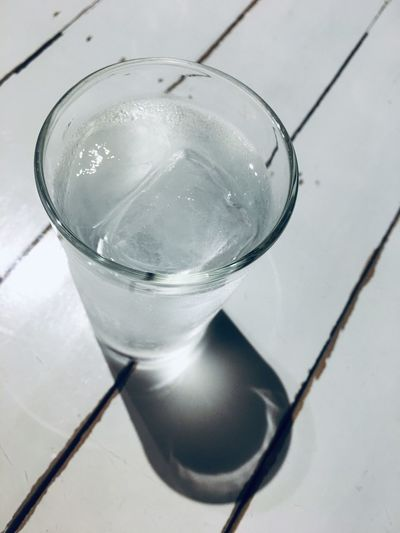 Drinking water in vintage color Refreshment Close-up Drink Glass Water Food And Drink No People Still Life Freshness Drinking Glass Glass - Material Nature High Angle View Cold Temperature