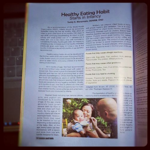 My article in magazine on Healthy Eating Habit with family Castro as editorial model Momsandkids Magazine Castro Babyseb health food nutrition healthyeating themanansala