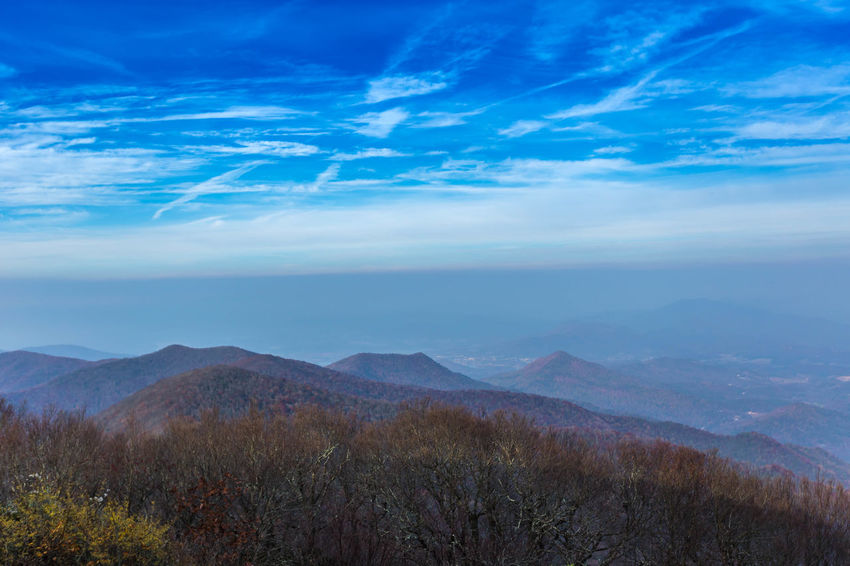 Gazing From the Top Beauty In Nature Blue Cloud - Sky Day Landscape Mountain Mountain Range Nature No People Outdoors Plant Scenics Sky Travel Destinations Trees'= Valley