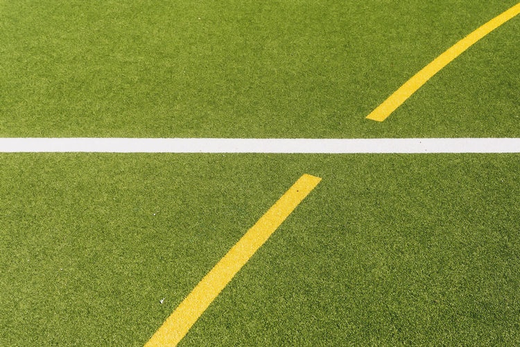 Marking lines on playing field Berlin Copy Space Germany 🇩🇪 Deutschland Horizontal Mock Artificial Backgrounds Color Image Dividing Line Football Field Grass Green Color High Angle View Marking Line No People Outdoors Playing Field Single Line Soccer Soccer Field Sport Synthetic Turf White Color Yellow